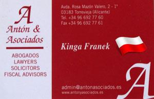Reklama usługi Anton