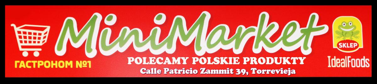 Reklama baner środek Minimarket